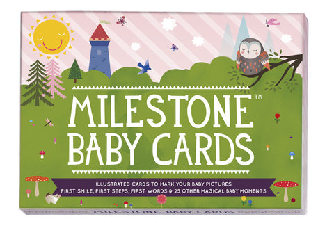 Milestone Baby Cards - English