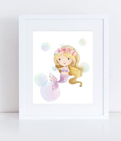 Meredith the Mystic Mermaid - Print
