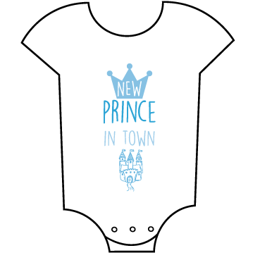 """New Prince in Town"" Babygrow"