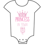 """New Princess in Town"" Babygrow"