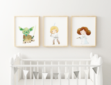 {Star Wars} - Yoda, Princess Leia, Luke Skywalker Prints