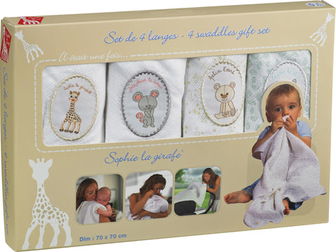 Sophie la girafe Set of 4 Swaddles