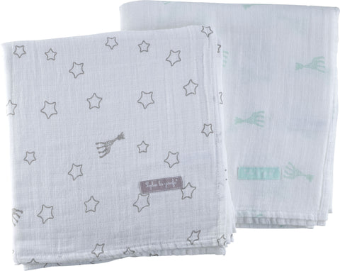 Sophie la girafe Set of 2 Large Swaddles