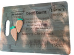 Santa Bamboo Cut Out Handle Board - Personalised
