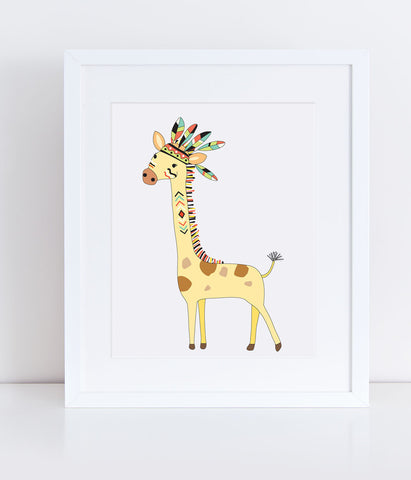 {Safari} Thuhlo the Giraffe - Print