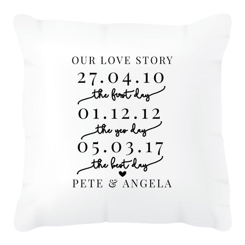 Wedding Love Story Cushion Cover