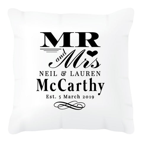 Wedding Mr & Mrs Cushion Cover
