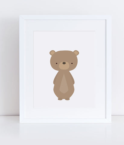 {Woodlands} Bear - Print