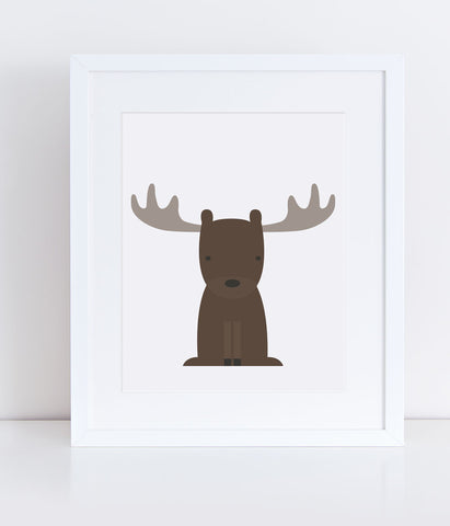{Woodlands} Moose - Print