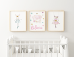 {Sweet Dreams} - Bunny, Kitty & Name Print