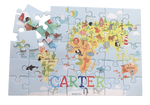 World Map Puzzle - Personalised