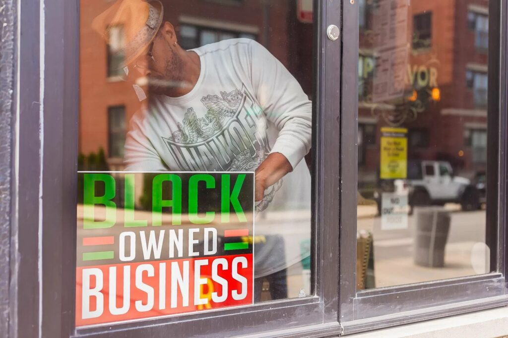 Black Owned Business Sign