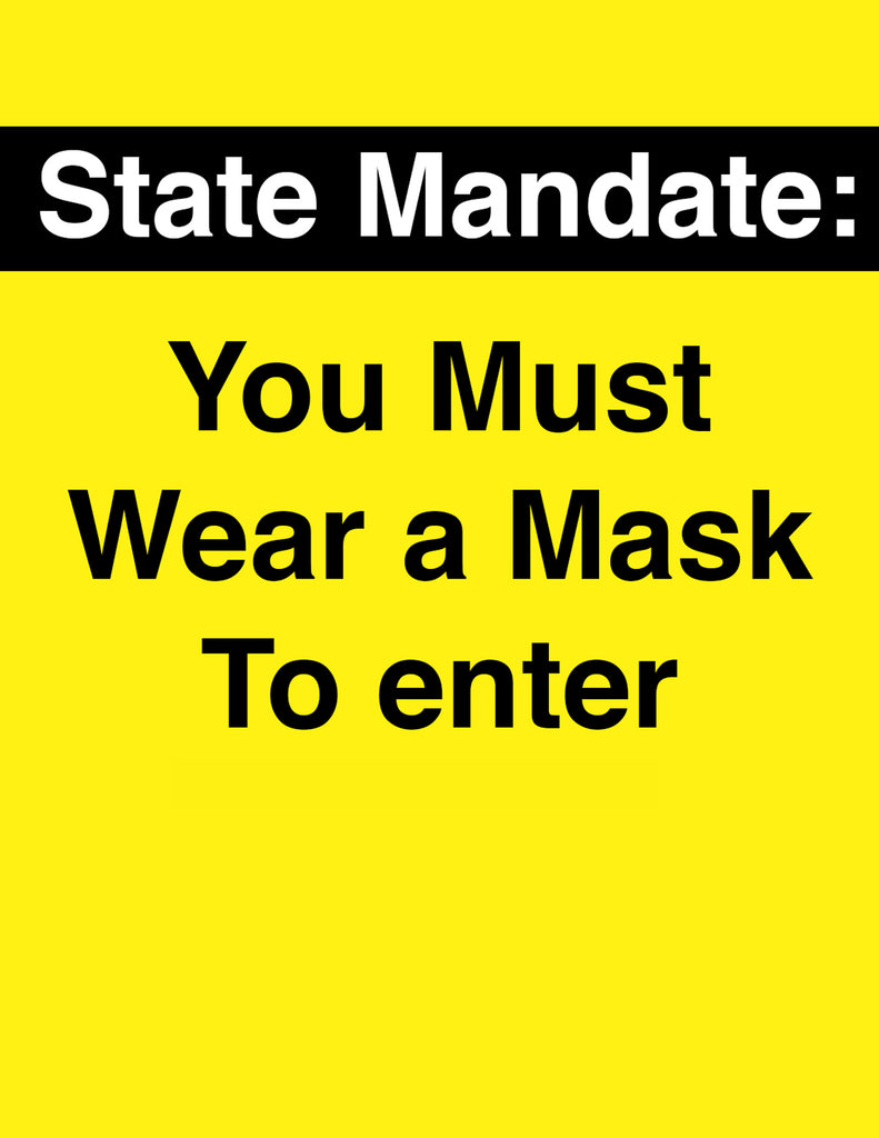 Must Wear Mask Sign