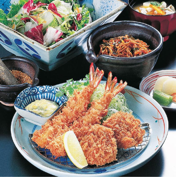 Ebi Fry (Deep Fried Shrimp) & Pork Fillet Katsu Set / 海老ヒレかつ膳 - Ginza Anzu
