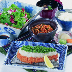 Pork Loin Katsu with Grated Radish & Green Onion Set / ネギおろしロースかつ膳 - Ginza Anzu