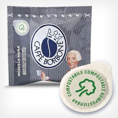 Coffee pods compostable ESE 44 quality Black Blend