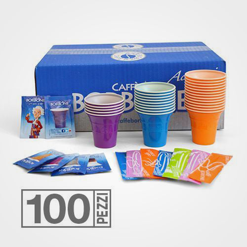 Coffee capsules compatible with A Modo Mio Don Carlo Blend Dek 100 capsules