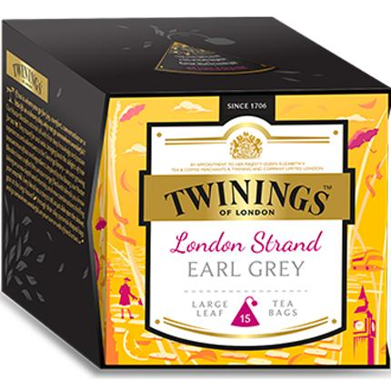 Té nero Platinum London Strand 15 filtri