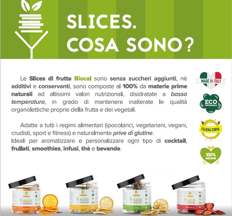 Slices di lime in vasetto