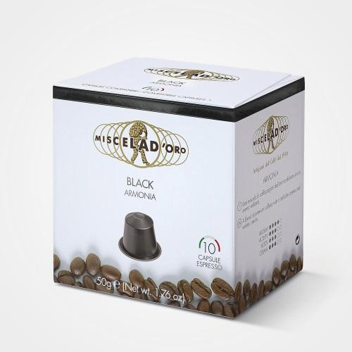 Coffee capsules compatible with Nespresso * Black