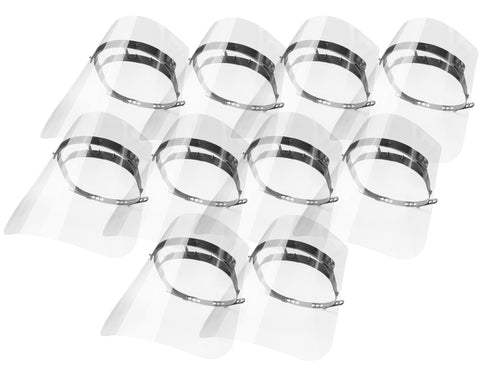 Opticlear Reusable Face Shields (10 pack)