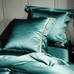 Pine Green Timeless Duvet Cover Set (Egyptian Cotton)