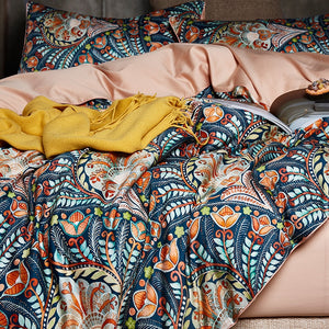 Coral Twist Duvet Cover Set (Egyptian Cotton)