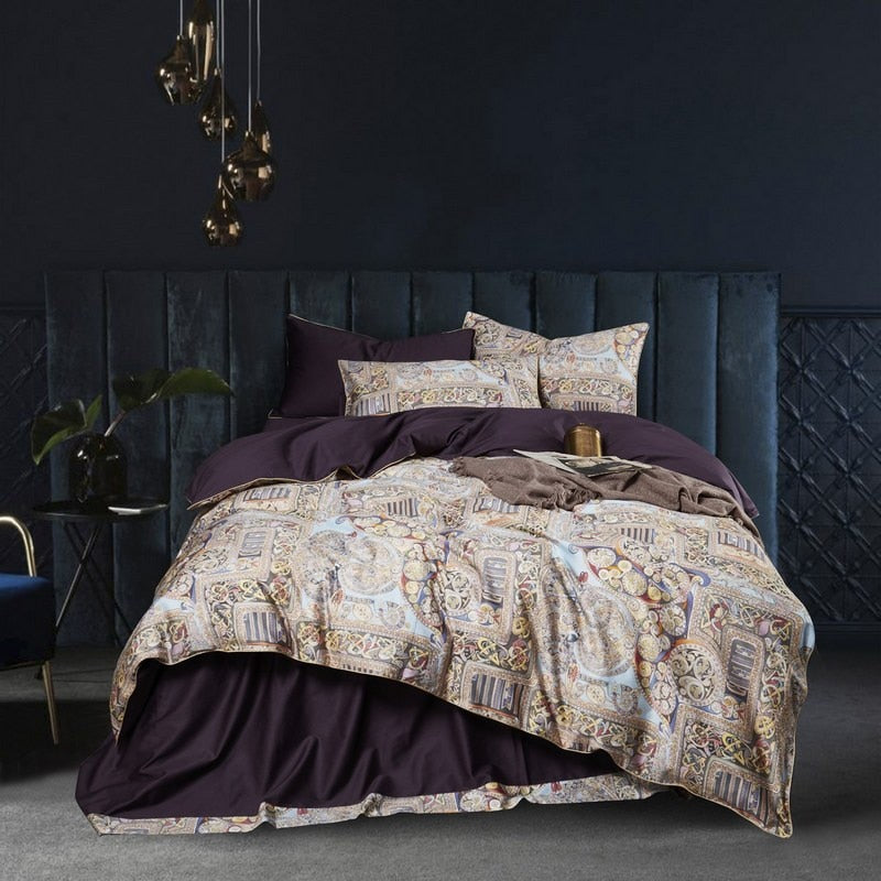 Purple Palace Duvet Cover Set (Egyptian Cotton)