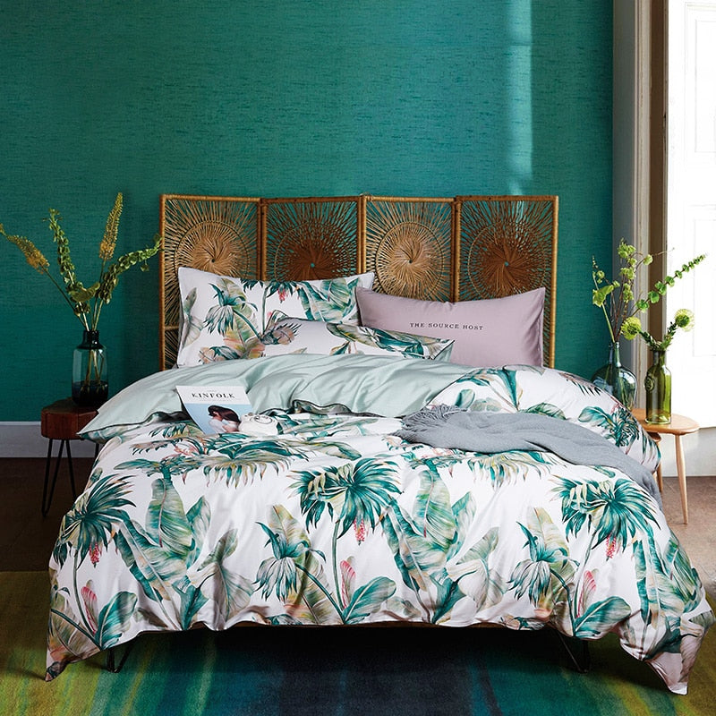 Palm Paradise Duvet Cover Set (Egyptian Cotton)