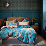 Aqua Rose Duvet Cover Set (Egyptian Cotton)