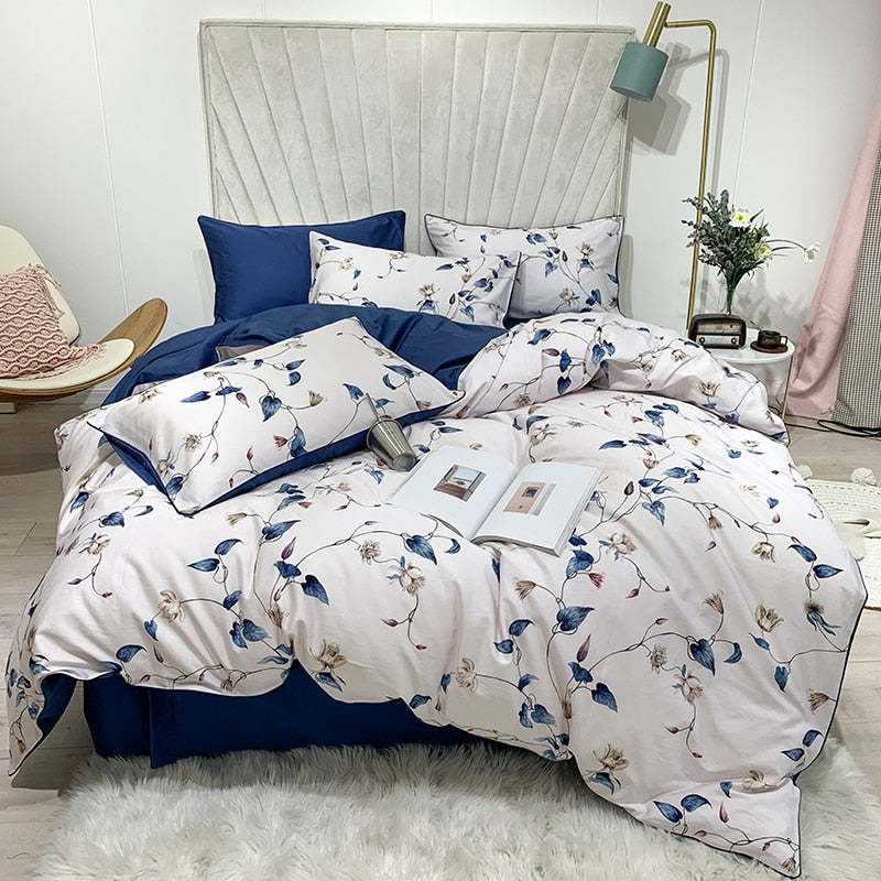 Powder Blue Duvet Cover Set (Egyptian Cotton)