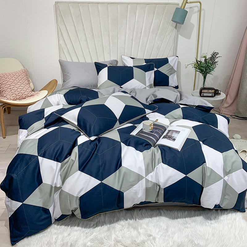 Blue Steel Duvet Cover Set (Egyptian Cotton)