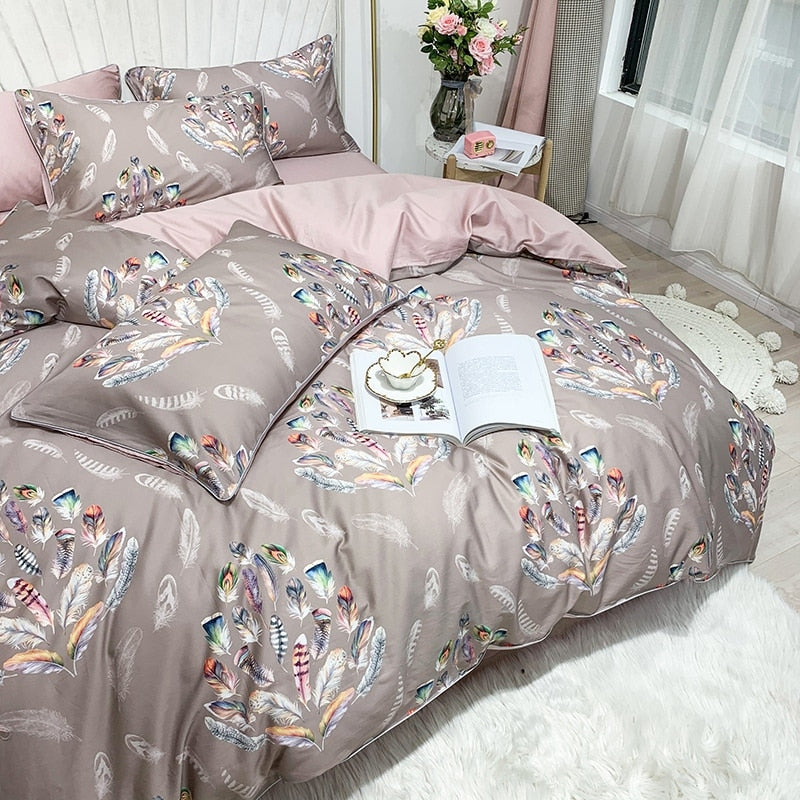 Magical Beige Duvet Cover Set (Egyptian Cotton)