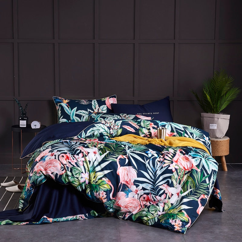 Flamingo Paradise Duvet Cover Set (Egyptian Cotton)