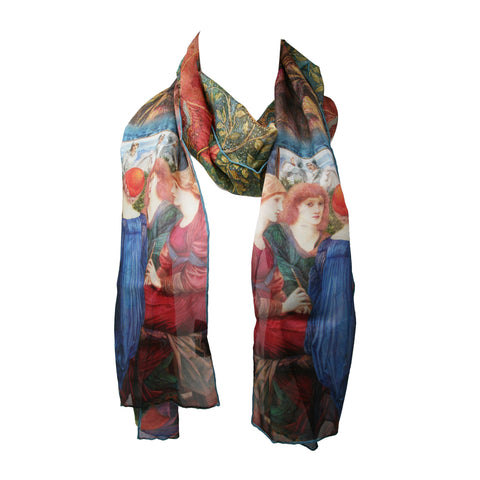 Scarf: Chiffon Silk, Burne-Jones, Laus Veneris