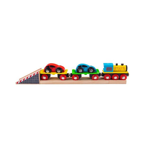 Bigjigs Wooden Car Loader Train