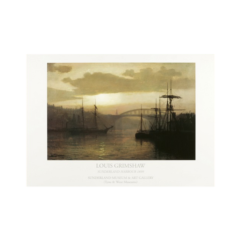 Sunderland Harbour by Louis Grimshaw Print