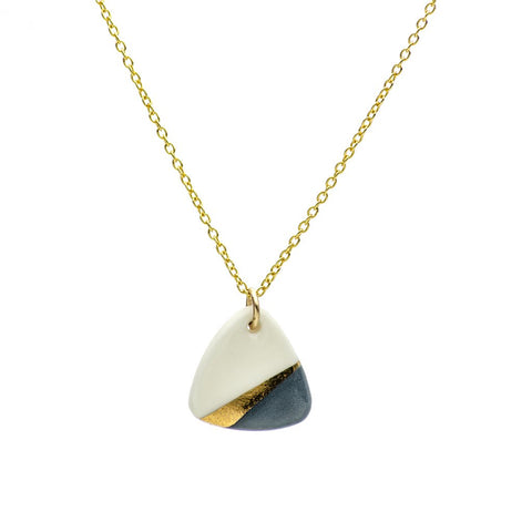 1&8 Porcelain and Gold 'Ray' Necklace