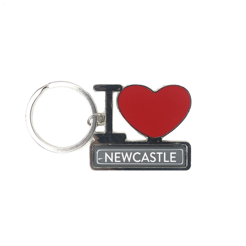 I Love Newcastle Metal Keyring