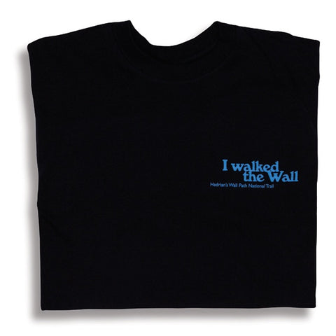 I Walked the Wall Left Chest Inscription Unisex T-shirt