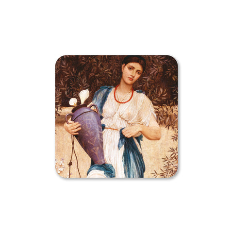Woman with Lilies coaster