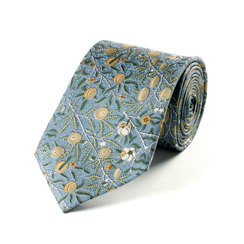 Blue Fruits Silk Tie