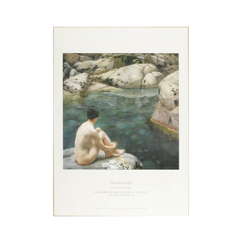 Bathing Pool by Harold Knight Print