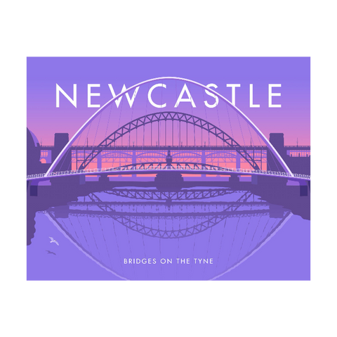 Bridges on the Tyne by Stephen Millership Tea Towel