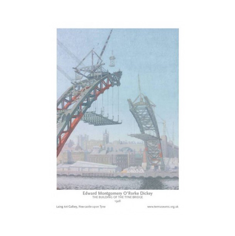 Building of the Tyne Bridge Print
