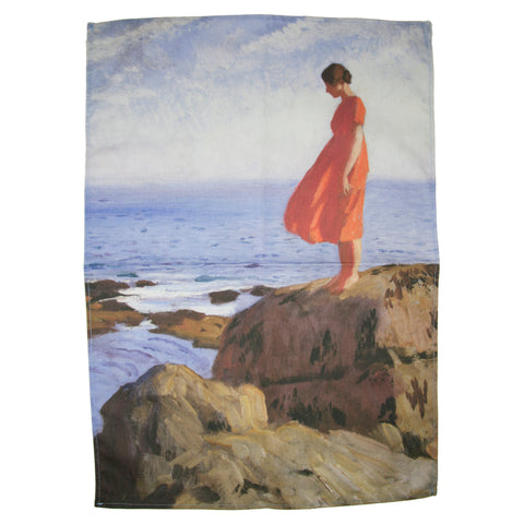 A Dark Pool by Laura Knight Tea Towel