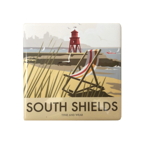 South Shields by Dave Thompson Ceramic Coaster