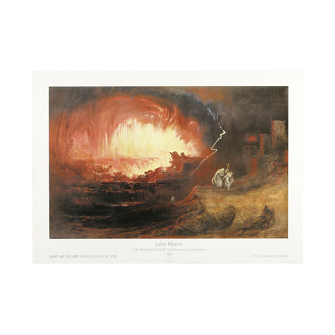 Destruction of Sodom and Gomorrah by John Martin Print