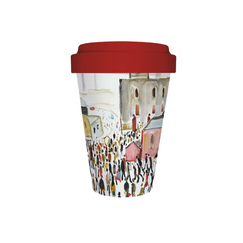 Going to Work by LS Lowry Bamboo Travel Cup
