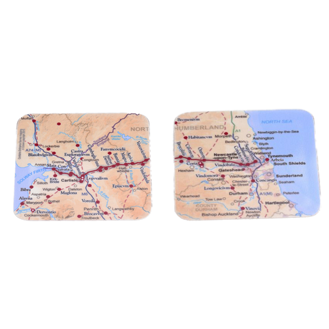 Hadrian's Wall Map Pack of Two Coasters